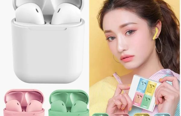 Newest color wireless earphone inpods 12 tws earbuds i12